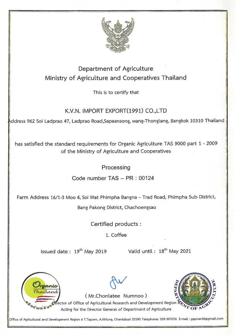 organic thailand certifications